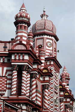 Jami-Ul-Alfar Mosque in Sri Lanka