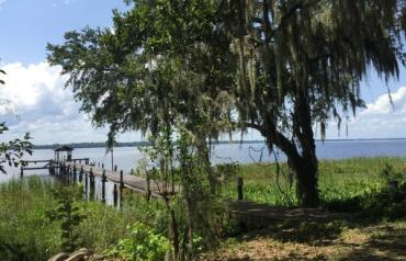 MAJESTIC RIVERFRONT ESTATE ON ST. JOHNS RIVER WITH 20 ACRES AND 4 BED 3 BATH HOME