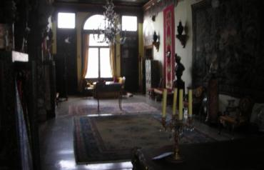 palazzo floor with 18th century stuccowork in Venice, italy