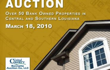 Louisiana Bank Owned Land & Real Estate Auction - 50+ Properties