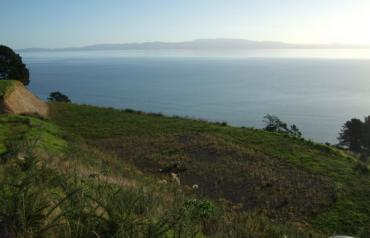 New Zealand 7 Acre Coast Property with 180 degree unobstructed views over water ready to build on