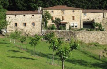 Three storey stone farmhouse in Haut Vivarais,  F