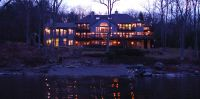 Lake Tahoe style Poconos Luxury Waterfront Mansion for Sale